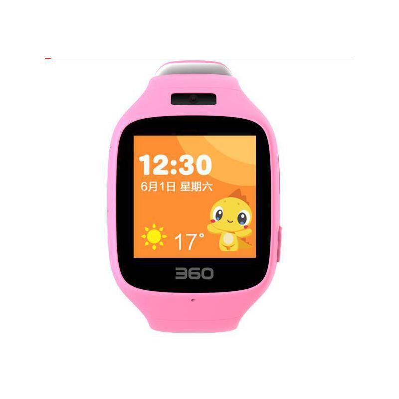 360儿童手表智能拍照版 故事儿歌 防丢防水GPS定位 360儿童卫士 儿童手表5C W602彩屏电话手表 樱花粉