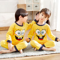 儿童睡衣男童夏季女孩3春秋薄款5岁中大童长袖宝宝家居服套装