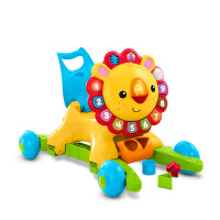 【当当自营】费雪4合1狮子摇摇学步车儿童手推学步车音乐早教学走玩具DLW65