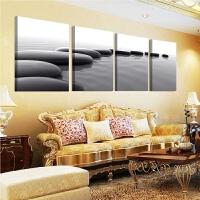 现代客厅装饰画黑白挂画书房办公室书房墙壁画抽象无框画石来运转