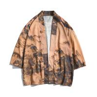 中国风道袍防晒外套七分袖情侣款日系日式和风唐装男和服宽松薄款
