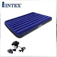 INTEX气垫床 单人双人充气床垫 加厚加大户外豪华植绒气垫床