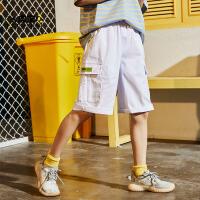 【2件3折:50.7元】男童工装五分短裤夏季薄款纯棉2021年新款儿童裤子吸汗中大童外穿
