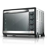 长帝CKTF-42GS家用烘培电烤箱42L低温发酵热风循环上下独立控温 带照明电烤箱