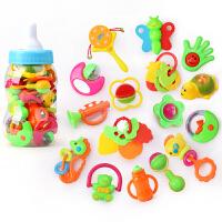 牙胶手摇铃 男宝宝玩具玩具 0-1岁