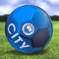 足球贴皮5号4号儿童欧冠英超西甲巴萨无缝PU防滑 深蓝色 曼城5号机缝球