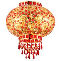 阳台户外大红灯笼灯中式结婚新年国庆挂饰走马灯LED水晶旋转灯笼 金福