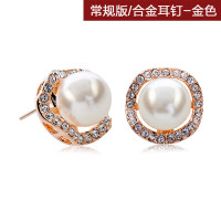 简约时尚饰品气质韩国夸张个性人造珍珠耳钉耳环女无耳洞耳夹耳饰