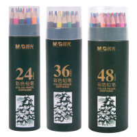 晨光文具彩铅彩色铅笔PP筒装彩笔学生绘画涂鸦涂色彩铅笔