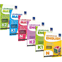 【首页抢券300-100】SAP Learning English Math N-K2 新加坡幼儿园阶段教辅 学习系列英