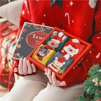 圣诞节袜子礼盒情侣款可爱女冬季中筒袜礼物本命年红袜礼物鼠
