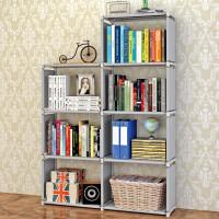蜗家 时尚层 自由组合置物架实用架子简易书柜 书架 sj0405