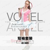 羽毛球服女短袖T恤 上衣网球服运动短裤裙裤套装 夏季 X