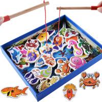 小孩婴幼儿童玩具益智开发木制磁性钓鱼