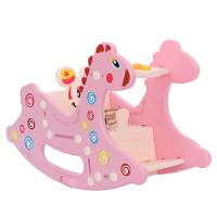 小木马婴儿童摇摇马餐椅二合一岁宝宝玩具周岁礼物塑料两用带音乐