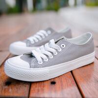 2018春新款弯头女款休闲学生鞋帆布鞋