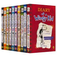【首页抢券300-100】Diary of a Wimpy Kid 10册 2017 小屁孩日记 章节书 图文并茂 黑白