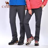 camel骆驼户外情侣冲锋裤 秋冬防风防水保暖男女冲锋裤