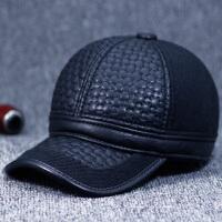 冬天中老年男士棒球帽护耳保暖鸭舌帽加绒冬季老年人帽子男爸爸帽
