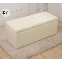 实木收纳沙发凳储物长条换鞋凳家用皮革试鞋凳鞋柜长方形床尾凳子