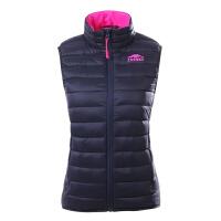 秋冬新款女式羽绒服羽绒背心 舒适保暖户外 羽绒马甲上衣 黑色 XL