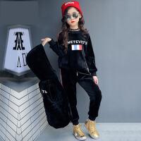 2017新款秋冬装韩版女童套装棉绒三件套儿童卫衣运动小孩衣服童装