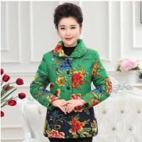 妈妈加绒加厚外套40-50岁中年棉袄女冬装短款中老年棉衣保暖衣服