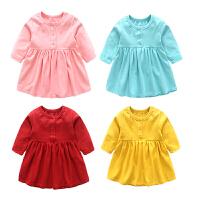春秋季装女宝宝婴儿连衣裙6个月新生儿3休闲百搭外出长袖衣服裙子