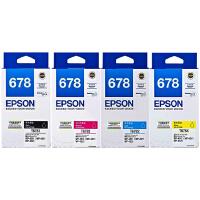 爱普生原装 EPSON 678墨盒 T6781黑色 T6782青色 T6783洋红色 T6784黄色 爱普生EPSON