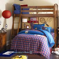 �棉�和�床上用品四件套 全棉男孩男童床品床�稳�件套1.2m1.5床笠