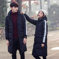 冬季男士韩版潮流帅气情侣学生中长款修身加厚羽绒棉衣外套bf