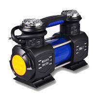 双缸车载充气泵 便携式汽车用打气泵高压电动轮胎打气筒12V