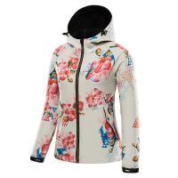 秋冬季花色户外软壳衣女软壳抓绒外套软壳冲锋衣
