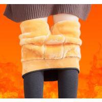 A640 东北加绒特厚抗寒保暖裤女士单层复合一体裤大码打底裤1000g