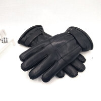 真羊皮毛一体手套男冬季防风骑行加厚保暖骑车分指时尚商务新品 均码