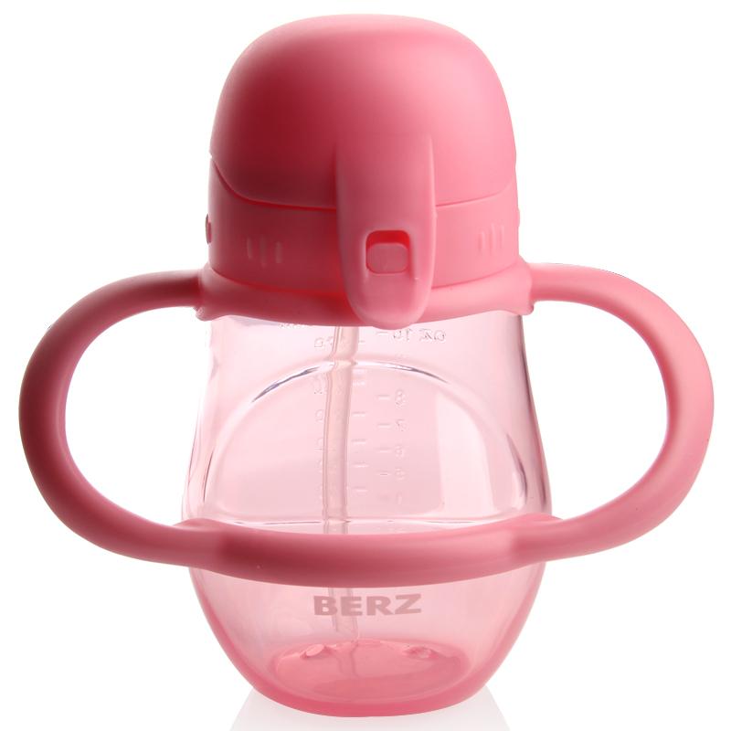 婴儿吸管杯宝宝学饮杯喝水训练杯儿童饮水杯带手柄婴儿防摔防漏学饮杯幼儿园喝水壶f7e造型可爱 手柄易握