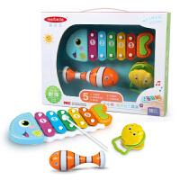 美贝乐 儿童手敲琴玩具宝宝七彩手敲琴八音琴音乐玩具