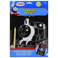 【首页抢券300-100】Thomas & Friends Scratch Art Set 小火车头托马斯幼儿英语刮画书