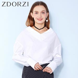 zdorzi卓多姿个性韩版纯色长袖衬衫女634018
