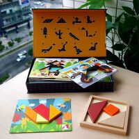 幼儿创意木质七巧板拼图拼版儿童益智力玩具启智早教积木3-4-5岁