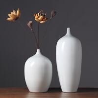 花瓶摆件欧式客厅装饰品家居简约工艺品景德镇干花花瓶陶瓷插花瓶