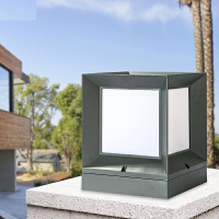 led柱头灯户外门柱灯防水围墙灯方形圆形现代简约庭院草坪灯