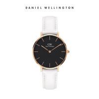 Danielwellington丹尼尔惠灵顿 dw手表女 32mm纯白皮表带石英女士腕表