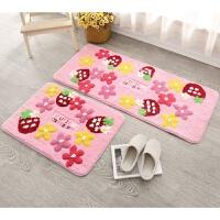 地毯地垫门垫进门门口吸水防滑垫卧室床边毯公主可爱草莓垫脚垫 草莓粉