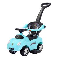 多功能儿童扭扭车滑行车学步车带音乐手推把护栏玩具童车