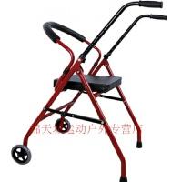 老年人助行器带座带轮老人四脚拐杖凳学步车助步器手推车折叠轮椅