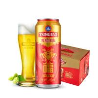 青岛啤酒10度500*12福罐啤