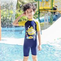 儿童泳衣男童连体中大童长短袖游泳衣可爱宝宝婴幼儿泳装ins泳衣