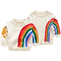 婴亲子装女童宝宝套头针织衫秋冬全家装一家三口装