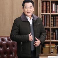 爸爸冬装新款40中老年人男装棉衣服50岁中年加厚秋冬季外套60 0 90到105斤